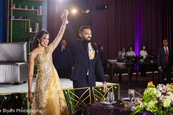 Maharani and raja at reception party.