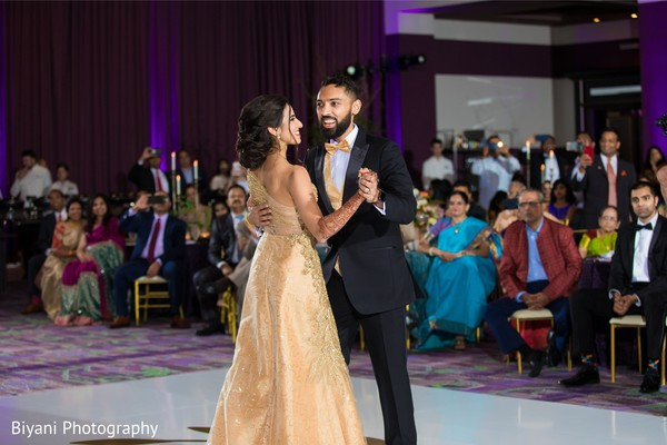 Indian couple's first dance capture.