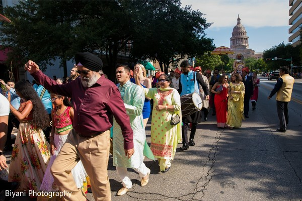 Indian baraat procession outdoors capture.