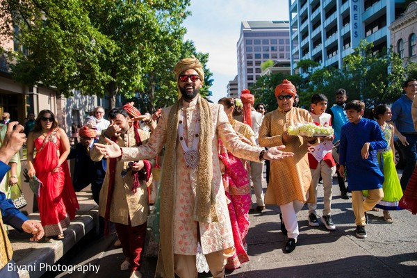 Indian groom on his way to milni.