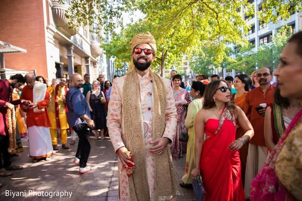 Raja at his milni arrival.