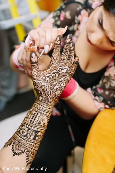 Indian bridal black henna art.