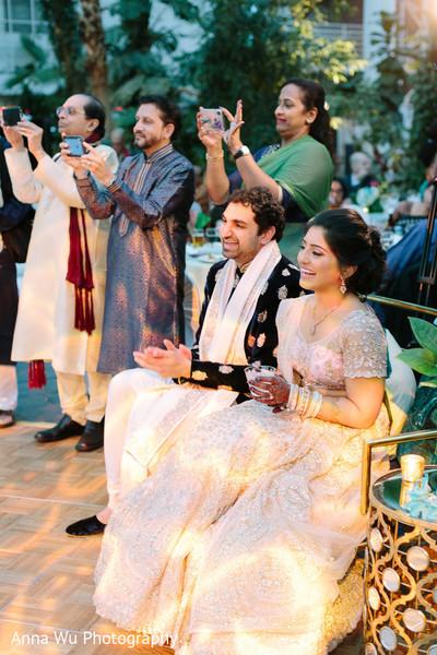 Raja and Maharani enjoying sangeet celebration.