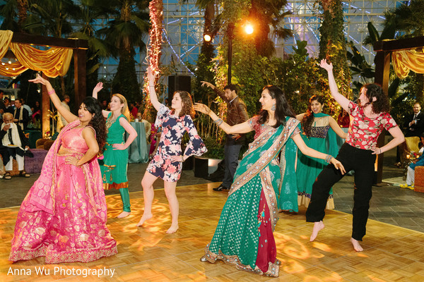 Indian pre-wedding Sangeet choreography.