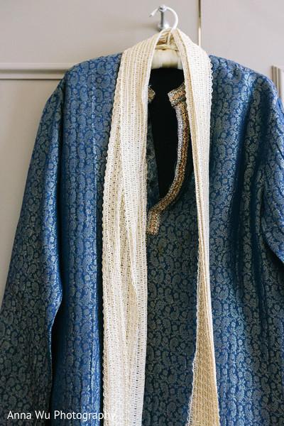 Raja's blue kurta.