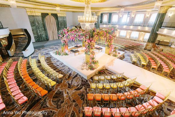 Indian wedding ceremony venu mandap decoration.