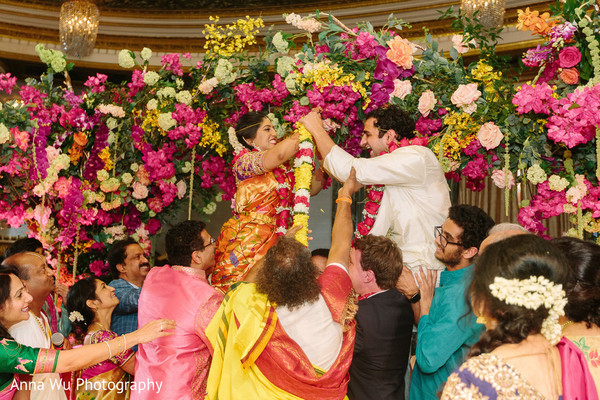 Jaimala South indian wedding ritual.