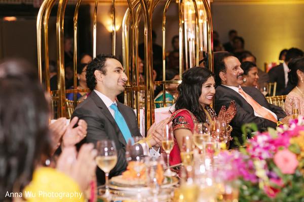 Indian wedding reception party celebration.