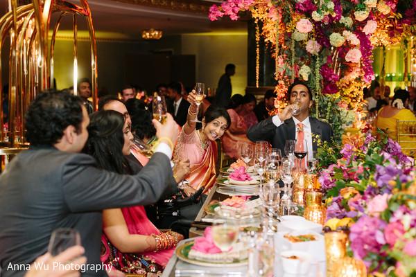 Indian wedding reception toast.