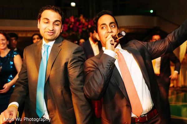 Indian wedding reception celebration.