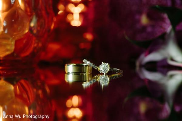 Yellow gold indian wedding rings.