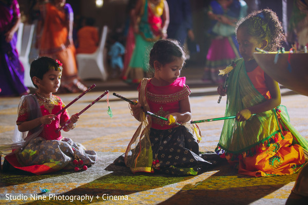Indian little guests at sangeet dance.