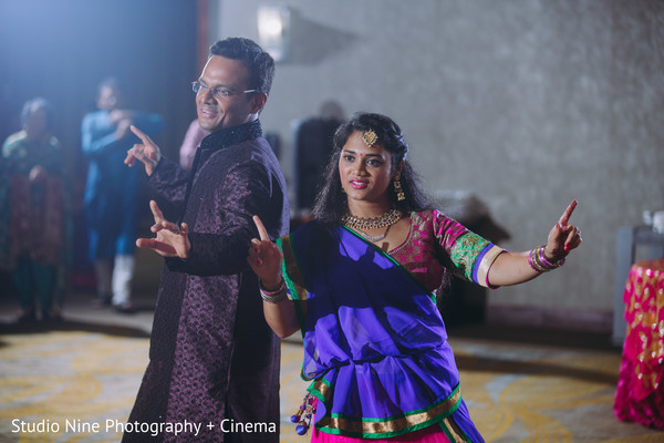 Indian pre-wedding dance photo.