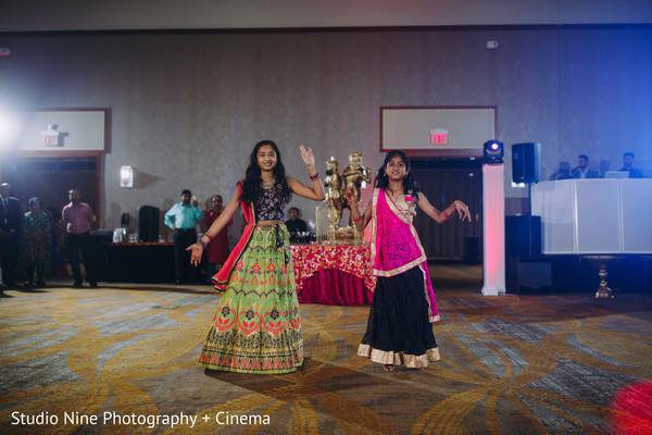 Indian Sangeet girls dance.