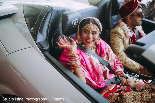 Maharani waving goodbye.
