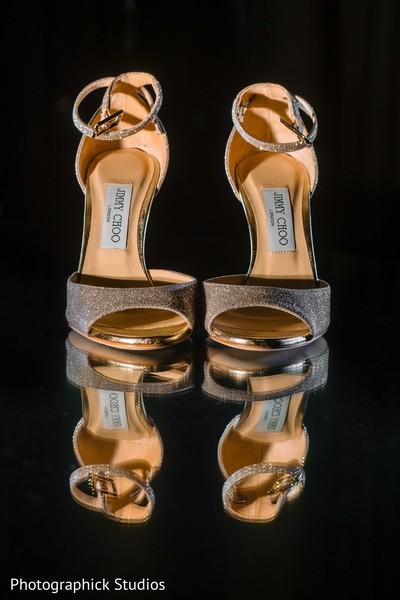 Indian bridal wedding high heel shoes.