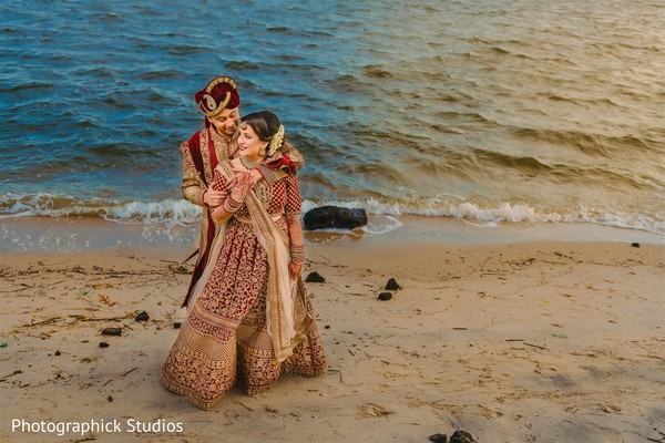 Maharani and Raja by the shore.