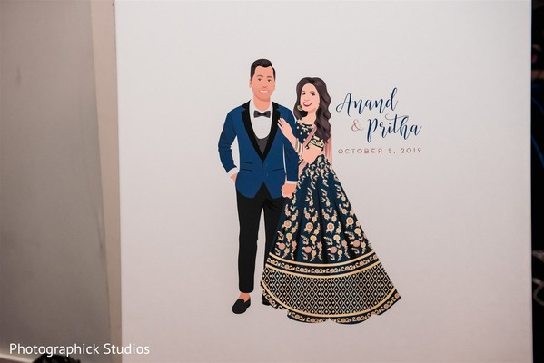Indian couple personalized wedding sign.