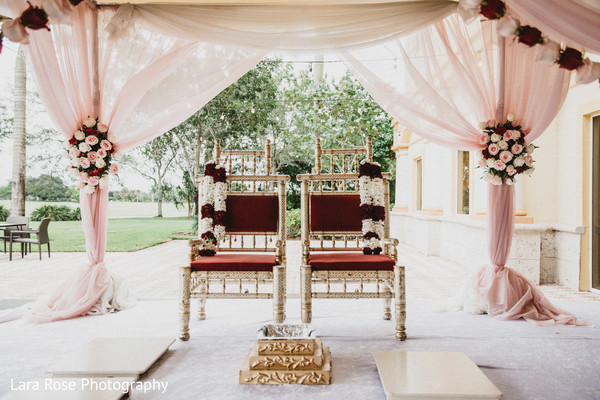 Dreamy flowered mandap decoration.