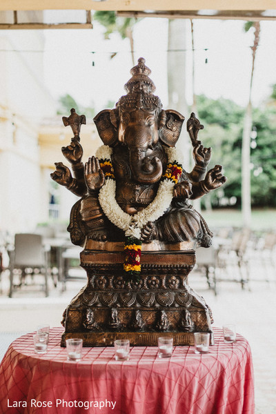 Indian traditional Ganesha altar