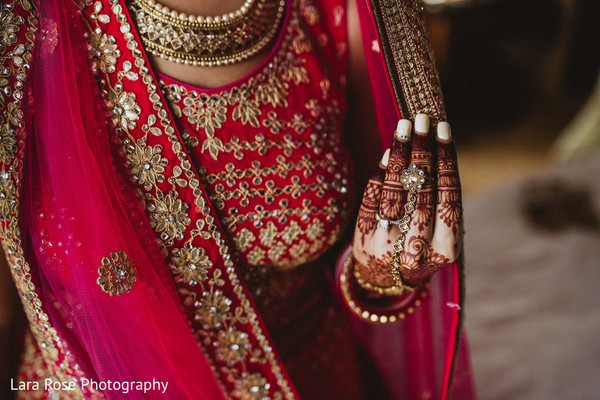 Indian bridal jewelry and Mehndi art capture