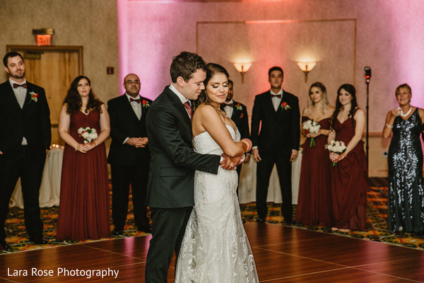 Indian couple's romantic first dance.