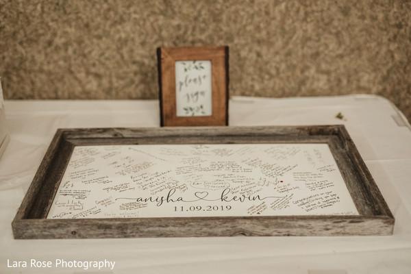 Indian wedding guest book frame.