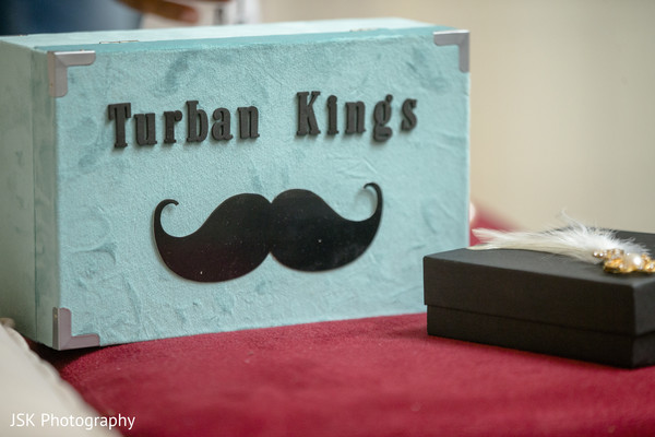 Indian groom's turban box and Sarpech.
