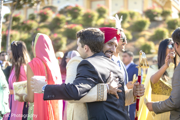 Indian groom at his baraat procession celebration.