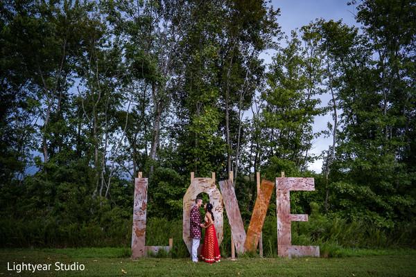 Enchanting outdoor Indian wedding photoshoot.