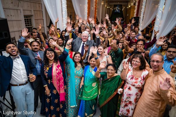 Joyful Indian pre-wedding celebration