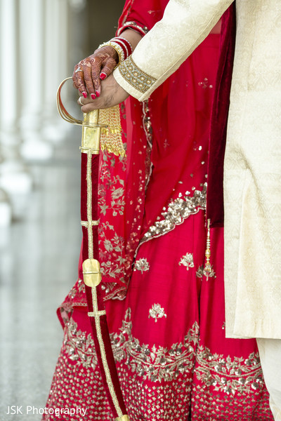 Raja's Gold and red wedding sword.