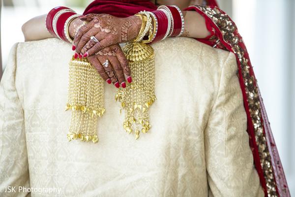 Maharani's mehndi art and her Kaleera.