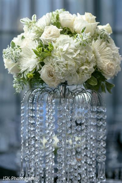 Crystal Indian wedding flowers base.