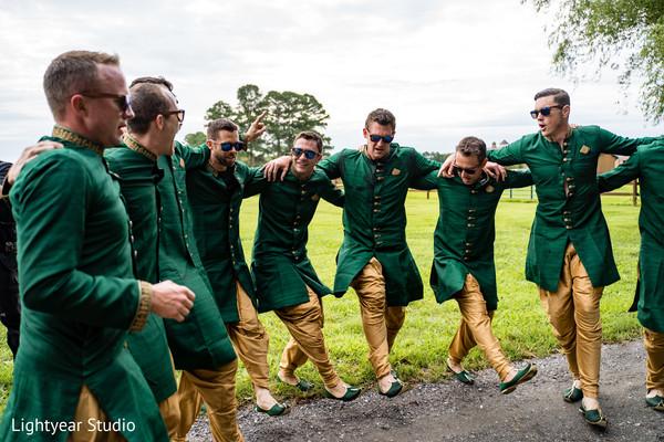 Charming Indian groomsmen capture