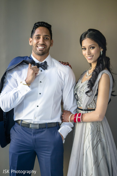 Indian groom with bride photo session.