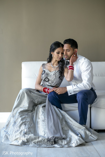 Indian bride and groom photo session.