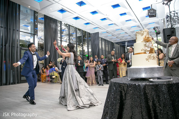 Maharani and raja at reception dance.