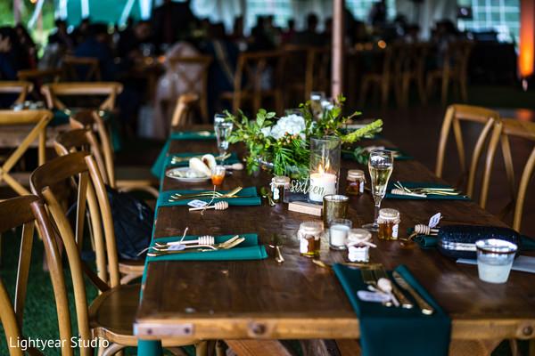 Creative and minimalist wedding reception decor