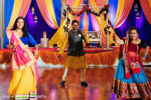 Raja's dance at sangeet choreography.