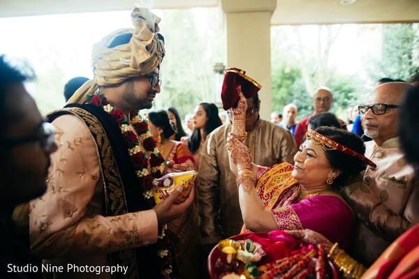 Indian milni ritual celebration.