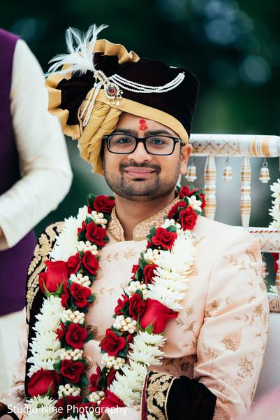 Raja at indian wedding mandap.