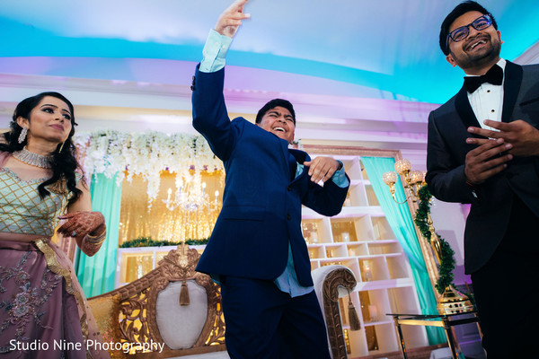 Indain wedding reception dance.