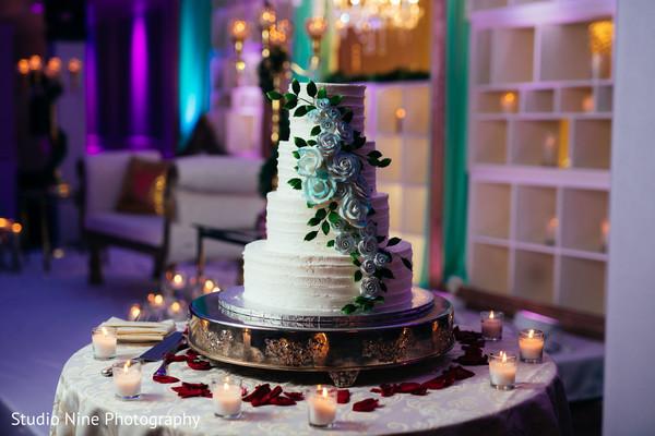 Indian wedding cake table decoration.