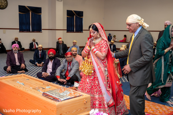 Maharani at the wedding altar.