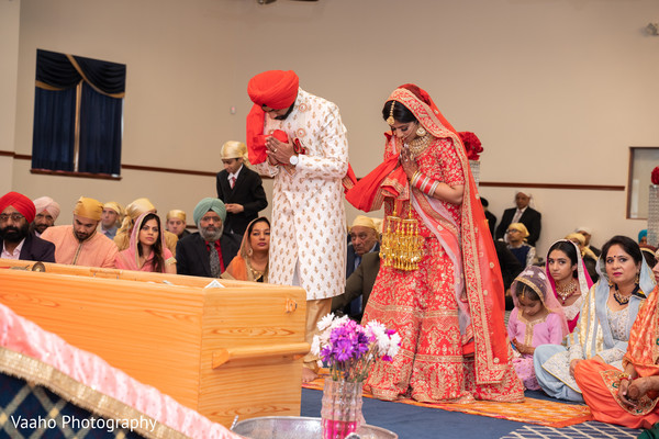 Traditional Sikh Indian wedding ceremony.