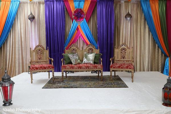 Indian pre-wedding Sangeet decoration.
