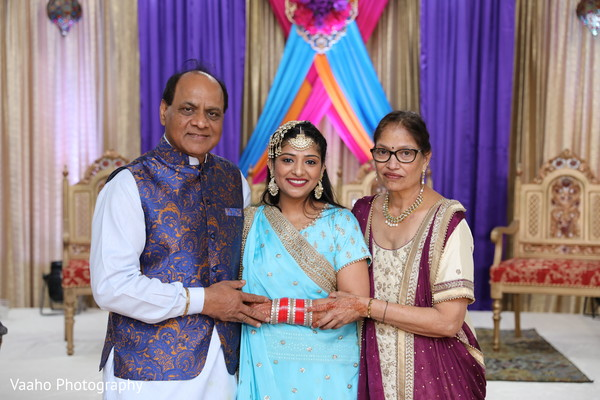 Maharani with relatives at sangeet party.