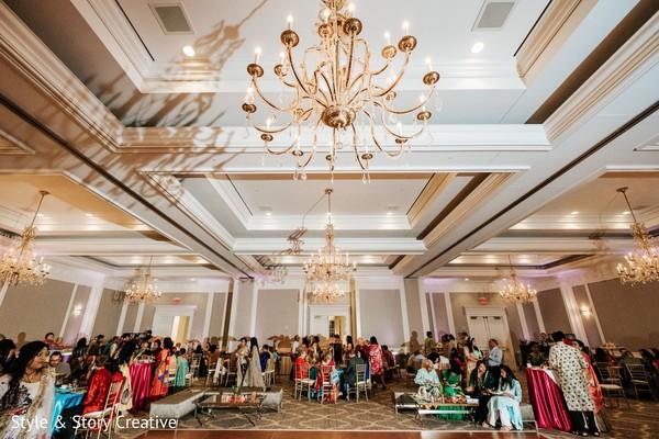 Indian pre-wedding party photo.