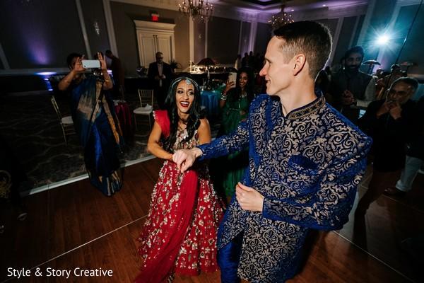 Raja and maharani at sangeet dance.